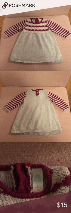 6 month Stem knit dress Such a cute knit dress, my daughter wore this once for family pictures!  No spots or stains. Stem Baby Dresses Casual