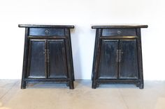 19th Century Chinese Tapered Cabinets | From a unique collection of antique and modern furniture at https://www.1stdibs.com/furniture/asian-art-furniture/furniture/