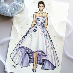 I have fallen in love with this couture dream from the s/s 2016 collection. This entire collection is an illustrators dream. Fashion Illustration Template, Illustration Girl, Fashion Wear, Couture Fashion, Fashion Design Sketches, Fashion Drawings, Beautiful Sketches, Dress Sketches, Dress Drawing