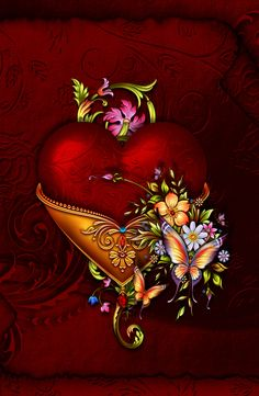 ╰⊰✿gs✿⊱╮ fractal art, heart wallpaper, wallpaper for your Flower Background Wallpaper, Heart Wallpaper, Cellphone Wallpaper, Flower Backgrounds, Wallpaper Backgrounds, Iphone Wallpaper, Hearts And Roses, Heart Pictures, Beautiful Gif