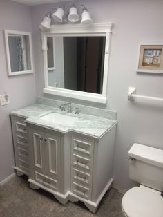 Nantucket 48-inch Bathroom Vanity (Carrara/White): Includes White Cabinet with Soft Close Drawers & Self Closing Doors, Authentic Italian Carrara Marble Top, and White Ceramic Sink - - Amazon.com