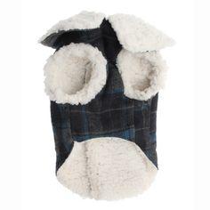 fleece lined dog coat.