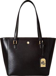 LAUREN Ralph Lauren Women s Newbury Halee II Shopper Black One Size designer  handbags spring handbags handbag b30277d79fe6b