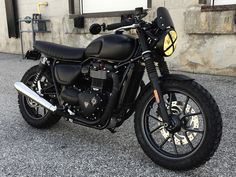 Find out more about some of my favorite builds - stylish scrambler designs like Triumph Cafe Racer, Triumph Chopper, Cafe Racer Bikes, Triumph Motorcycles, Indian Motorcycles, Custom Motorcycles, Custom Bikes, Triumph Street Twin Custom, Triumph Street Triple