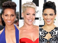Alicia Keys, Pink and Paula Patton Prove Fauxhawks Rock at the Grammys | People.com