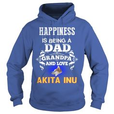 #Akita Inu Happy Dad Grandpa And Love #Akita Inu, Order HERE ==> https://www.sunfrogshirts.com/Pets/124068024-693102325.html?6432, Please tag & share with your friends who would love it, #xmasgifts #renegadelife #birthdaygifts