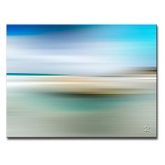 Cool blue hues define the Blur Stripes XIII Wrapped Canvas Wall Art . Add this colorful, ready-to-hang canvas to your home to enhance. Artist Branding, Beach Artwork, Beach Scenes, Abstract Landscape, Abstract Art, Rock Art, Beautiful Beaches, Wrapped Canvas, Canvas Wall Art