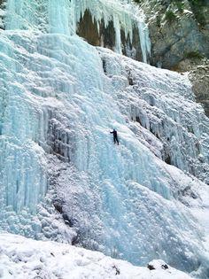 The Frozen Waterfalls of Serrai di Sottoguda