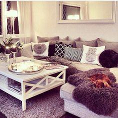 Cushions cosy living room