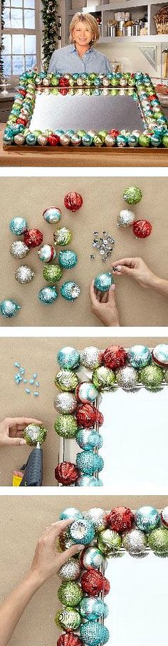 Ornament Mirror Tutorial ~ A festive reflection