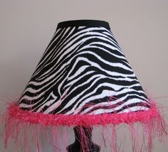 Zebra and pink lamp shade bedroom