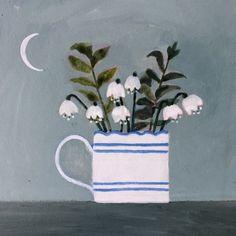 Blue Cups, Watercolor Portraits, Doodle Art, Watercolor Flowers, Art Inspo, Flower Art, Illustration Art, Wallpaper, Collage
