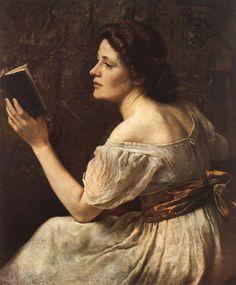 Lesendes Mädchen, 1883, Otto Scholderer. Germany, (1834–1902)