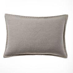 Belgian Vintage Washed Linen Long Cushion Linen