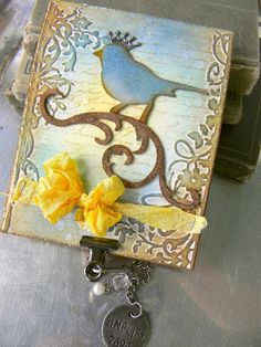 Card by design team member @Shelly Hickox featuring dies by @Tim Holtz.