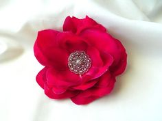 @Robin Wollert $14 #pink #flower #clip #rhinestone #accessories #hair