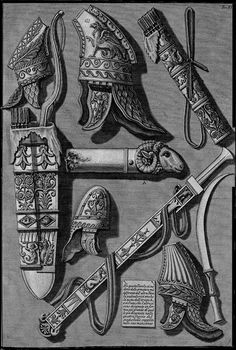 Other weapons and armor, different from the above table - Giovanni Battista Piranesi Ancient Rome, Ancient History, Italian Baroque, History Page, 1st Century, First Humans, Art Database, Roman Empire, Celtic