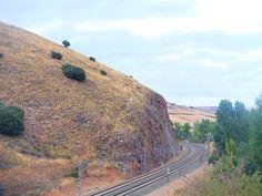 La vía férrea entre Sigüenza y Moratilla de Henares