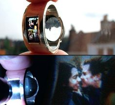 projector wedding ring. This is amazing! Great for guys (or girls) who don't want something too flashy, yet it's still very sentimental..