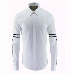 Mens Shirts 100% Cotton Business Dress Solid Turn Down Neck Long Sleeve Casual Clothing Hot Sale 2017 New