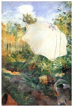 Carl Larsson, Garden in Grez, 1883, carl larsson house