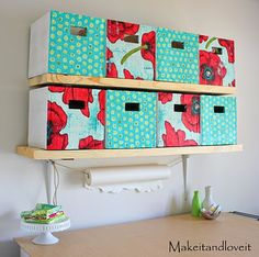 made out of cardboard boxes and fabric - DIY - www.makeit-loveit.com