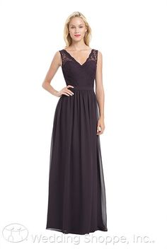 A classic and chic lace and chiffon bridesmaid dress from Bill Levkoff.