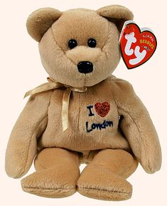 TY Beanie Baby 2002 Signature Bear Brown w//plaid Ribbon /& Heart on Chest