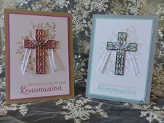 Communion Cards Communion cards, blessings, hope and believe, stampin & Communion, Stampin Up Karten, About Easter, Christian Cards, Easter Nails, Kids Birthday Cards, Get Well Cards, Stamping Up, Birthday Invitations