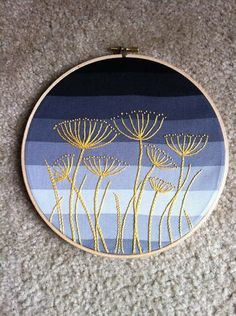 Weeds are in the eye of the beholder.  From Craftsters.org.  Interesting use of gently striped fabric to impart sunset or sunrise.