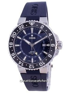 Stainless Steel Case, Rubber Strap, Automatic Movement, Mineral Crystal, Blue Dial, Analog Display, Power Reserve. Seiko 5 Military, Rolex Watches, Watches For Men, Oris Aquis, Casio Edifice, Seiko Automatic, Watch Model, Blue Crystals, Stainless Steel Case