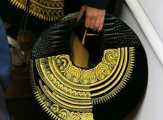 Bretagne - Jean Paul Gaultier – Haute Couture - Automne Hiver 2015 - spring purses and handbags, blue handbags, handbags brands for women Jean Paul Gaultier, Couture Details, Fashion Details, Couture Ideas, Costume Original, Silhouette Mode, Or Noir, Embroidery Fashion, Couture Embroidery