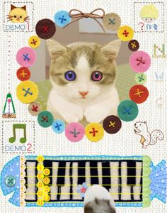 Musical cat.(on my blog. use the keyword wesp333 on Google for my blog)