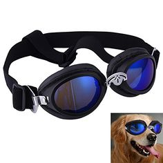 fa228260423 Yunt Stylish Pet Dog Driving Cycling Foldable Sunglasses UV Protection  Waterproof Large Dog GogglesBlack     Want additional info  Click on the  image.