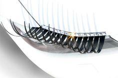 Car Eyelashes Headlight Lamp Auto Sticker Pair