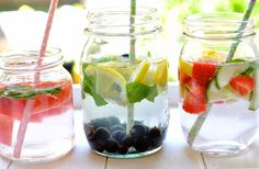 Fruit Infused Water - 3 healthy and refreshing combinations