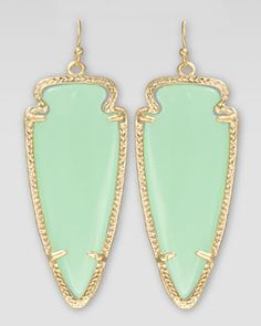 Y16V0 Kendra Scott Skylar Arrow Earrings, Chalcedony