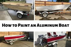 How to Easily Paint an Aluminum Boat (With Pictures) Fishing Boats For Sale, Bass Fishing Boats, Bass Boat, Crappie Fishing, Ice Fishing, Fishing Rods, Carp Fishing, Fishing Tackle, Fishing Stuff