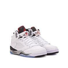 40f38268245c Jordan Air 5 Retro BG White Cement Kids Casual Sneakers - 6.5