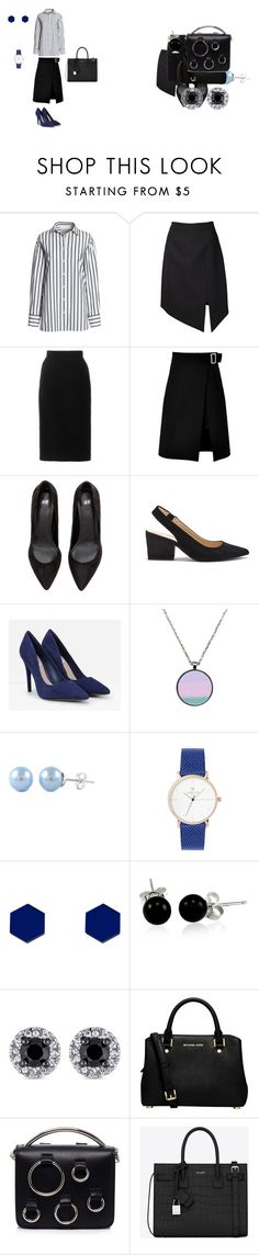 """Городской шик."" by explorer-14669260985 on Polyvore featuring мода, Canvas by Lands' End, Yves Saint Laurent, Oscar de la Renta, storets, Sole Society, CHARLES & KEITH, Wolf & Moon, Bling Jewelry и MICHAEL Michael Kors"
