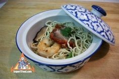 Authentic Thai recipe for Thai Street Vendor Noodles, 'Ba Mee Haeng' from ImportFood.com.