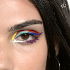 A colorful, abstract eye