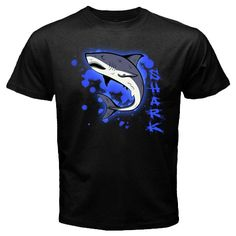 Sale New Custom Blue Aura Shark heart design Black t-shirt size S M L XL 2XL 3XL, $24.99