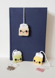In this post, I'm sharing 13 free crochet bookmark patterns. If your hobbies are to read and crochet, you can combine them and make a crochet bookmark. Crochet Gifts, Crochet Toys, Knit Crochet, Knitted Dolls, Crochet Animals, Crotchet, Cute Bookmarks, Crochet Bookmarks, Crochet Bookmark Patterns Free