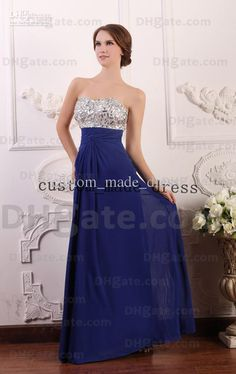 royal-blue-sweetheart-prom-dress-silver-white.jpg (620×985)