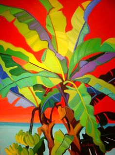 Shari Erickson - Banana tree - Camaieu - Art Gallery - Saint Martin