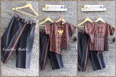 Top, tenun Maumere & Batik Lurik + Cullotes. By Gendhis's Batik.