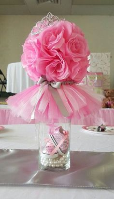 New baby shower centerpieces tutu party ideas ideas Idee Baby Shower, Baby Shower Favors, Shower Party, Baby Shower Parties, Baby Shower Themes, Baby Boy Shower, Baby Shower Gifts, Shower Ideas, Ballerina Baby Showers