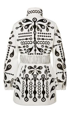 Cath Faux Fur Embroidered Coat by HOLLY FULTON for Preorder on Moda Operandi