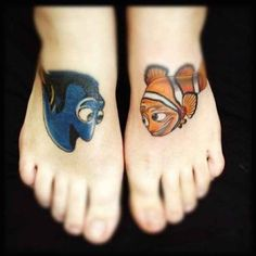 Dory and Marlin Disney tattoos photo - Finding Nemo was also one of my favorites. I love the ocean! #TattooModels #tattoo